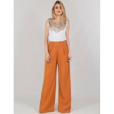 Calça Alfaiataria Pantalona Cintura Alta