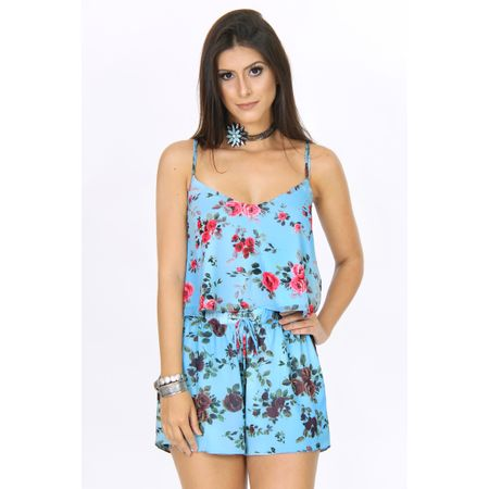 Conjunto De Blusa E Short Estampa Floral Libert