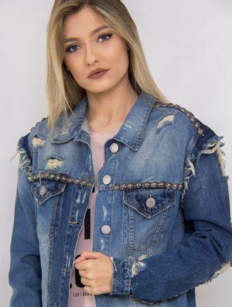 Jaqueta-Jeans-Patchwork-Com-Pintura-De-Aguia
