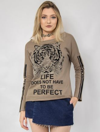 Blusa-Moletom---Life-Does-Not-Have-To-Be-Perfect--Verde