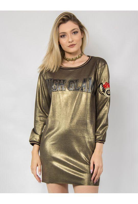 Vestido-Curto-Malha-com-Aplicacao-Hot-Dourado