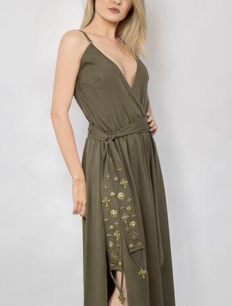 Vestido-Longo-Liocel-com-Bordado-Verde