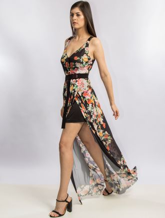 Vestido-Longo-De-Tule-Estampa-Tropical-Lion