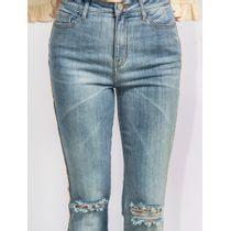Calca-Flare-Jeans-Rasgada-No-Joelho