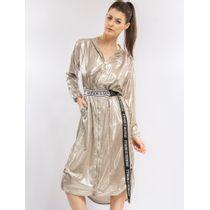 Vestido-Longo-Metalizado-Com-Capuz
