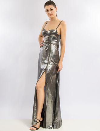 Vestido-Longo-Metalizado-Com-Bojo-E-Bordado