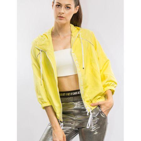 Jaqueta De Nylon Com Capuz Silk E Transfer
