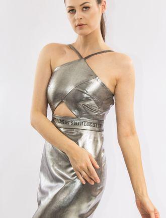 Vestido-Curto-De-Alfaiataria-Com-Foil