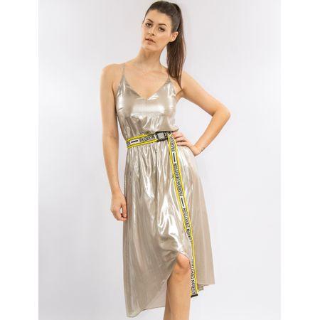 Vestido Curto Metalizado