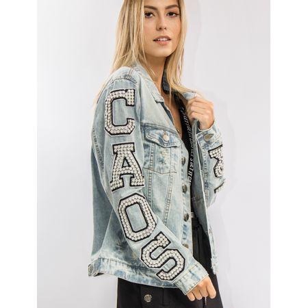 Jaqueta Jeans Bordada Caos Wear