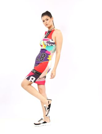 Vestido-Curto-De-Malha-Estampa-Sport-Patchwork