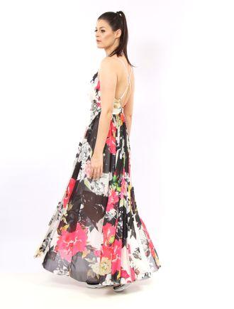 Vestido-Longo-De-Tule-Com-Decote-Estampa-Floral-Wh
