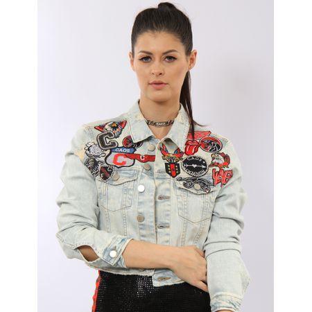 Jaqueta Jeans Com Patch