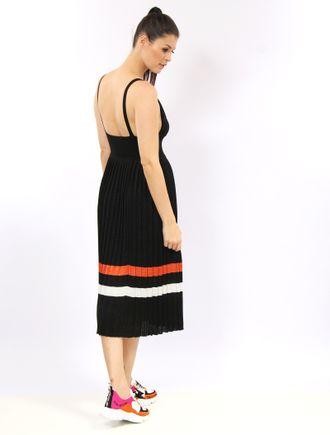 Vestido-Longuete-De-Trico-Plissado-Com-Listras