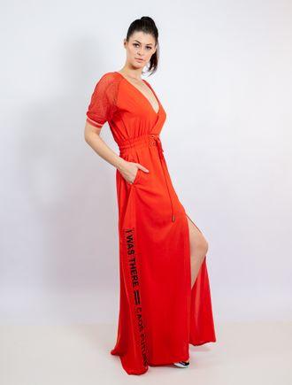 Vestido-Com-Detalhe-De-Tela-Com-Retilinea-E-Adesiv