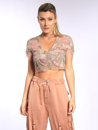 Cropped-De-Tule-Com-Patchs-E-Bordado
