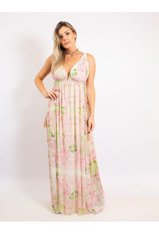 Vestido-Longo-Estampa-Vintage-Summer-Com-Pompom