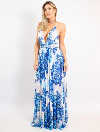 Vestido-Longo-De-Tule-Com-Decote-Estampa-Blue-Flow
