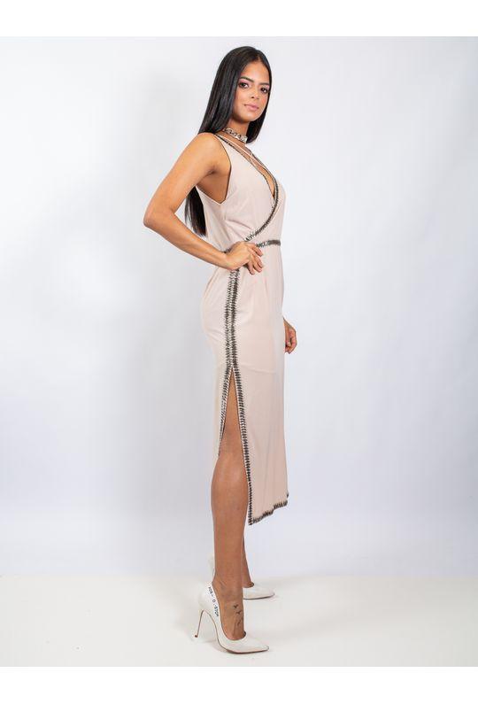 Vestido-Longuete-De-Chiffon-Com-Fenda-Nas-Laterais