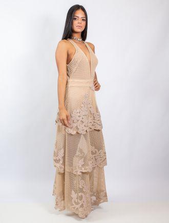 Vestido-Longo-De-Tela-E-Tule-Com-Transfer