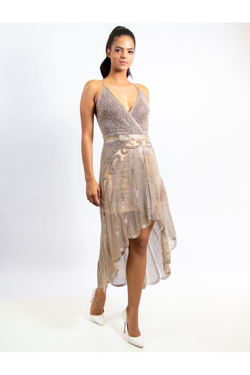 92f4c1411 Vestido Curto De Tule Com Bordado E Transfer - lojacaos