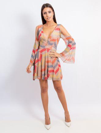 Vestido-Curto-De-Tule-Estampa-Geometrico-Color