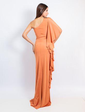 Vestido-Longo-De-Malha-Um-Ombro-So-Com-Broche