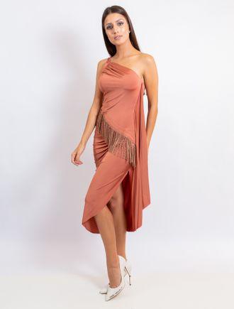Vestido-Curto-De-Malha-Um-Ombro-So-Com-Franja-E-Tr
