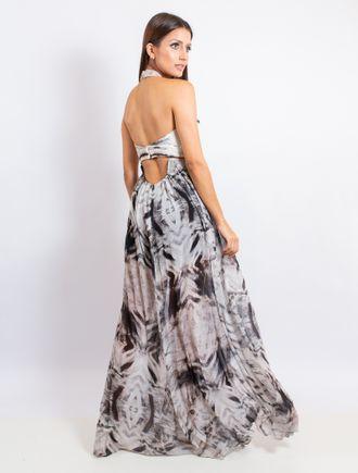 Vestido-Longo-De-Chiffon-Com-Malha-Prene-Estampa-P
