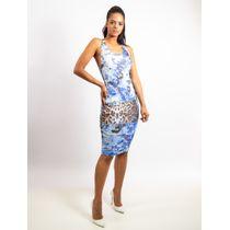 Vestido-De-Tule-Fivela-Costas-Estampa-Leopard-Blue