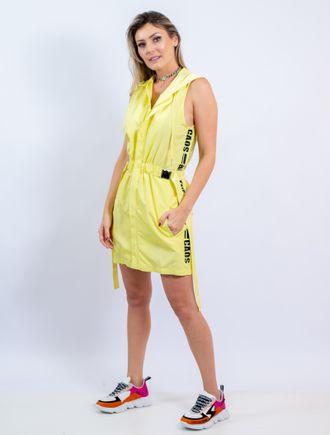 Vestido-Curto-De-Nylon-Com-Adesivo-E-Capuz---40