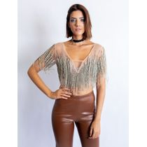 Cropped-De-Tule-Todo-Bordado