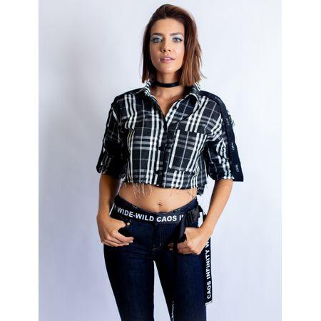 Camisa De Nylon Xadrez