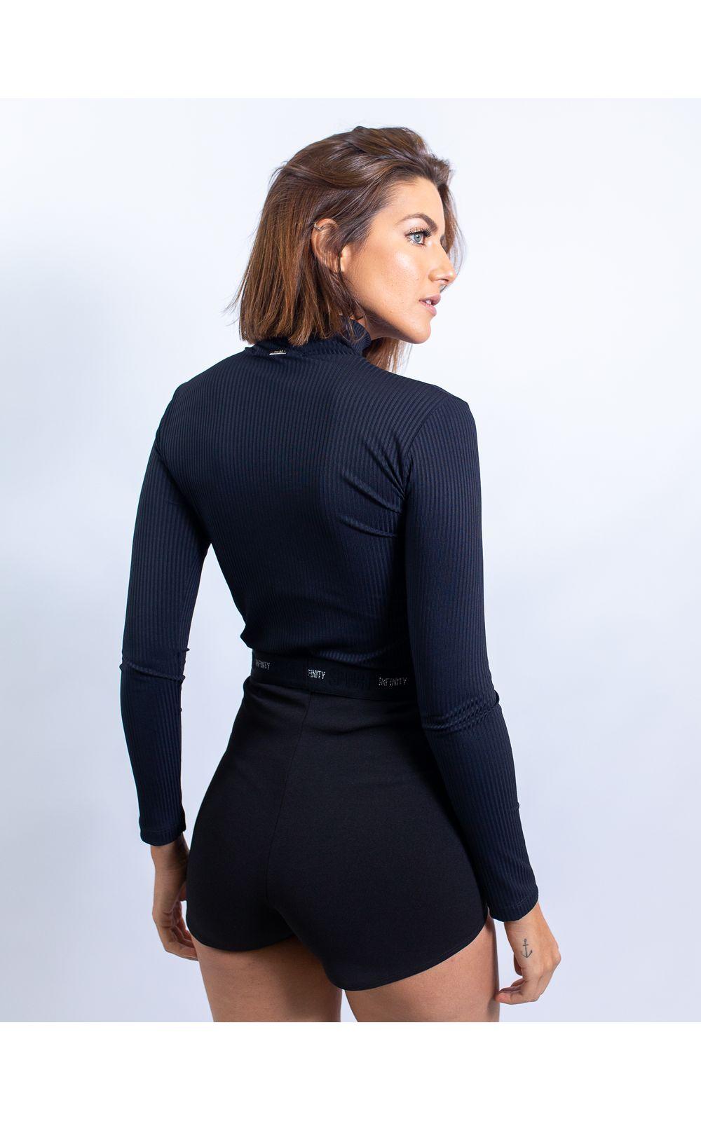 Foto 2 - Hot Pant Com Elástico Collor