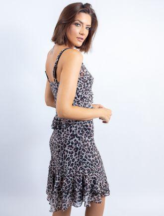 Vestido-Curto-De-Chiffon-Estampa-Onca-Marrom-Com-T