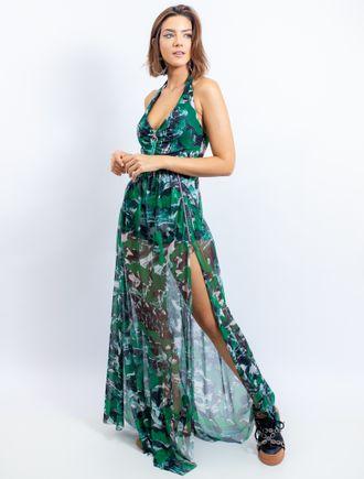 Vestido-Longo-De-Tule-Estampa-Mix-Tartan-Camouflag