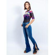 Calca-Flare-Jeans-Com-Abertura-Lateral-E-Bordado