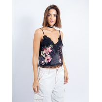 Cropped-De-Cetim-Com-Renda-Estampa-Floral-Com-Fund