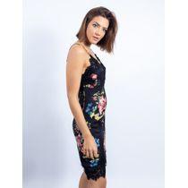 Vestido-Curto-De-Cetim-Com-Renda-Estampa-Floral-Fu