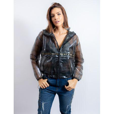 Jaqueta De Plástico Xadrez
