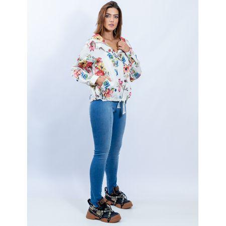 Jaqueta De Nylon Estampa Floral