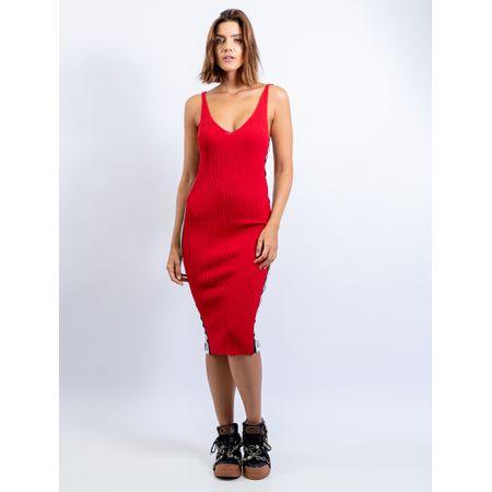 Vestido Curto De Alça De Tricot Com Listras