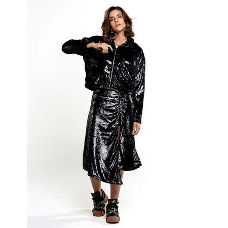 Jaqueta De Veludo Espelhado