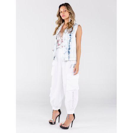 Colete Jeans Tie Dye