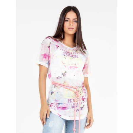Blusa De Tela Estampa Floral