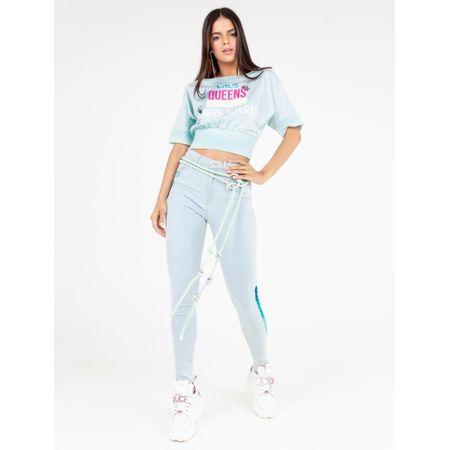 Calça Super Skinny Jeans Delavê