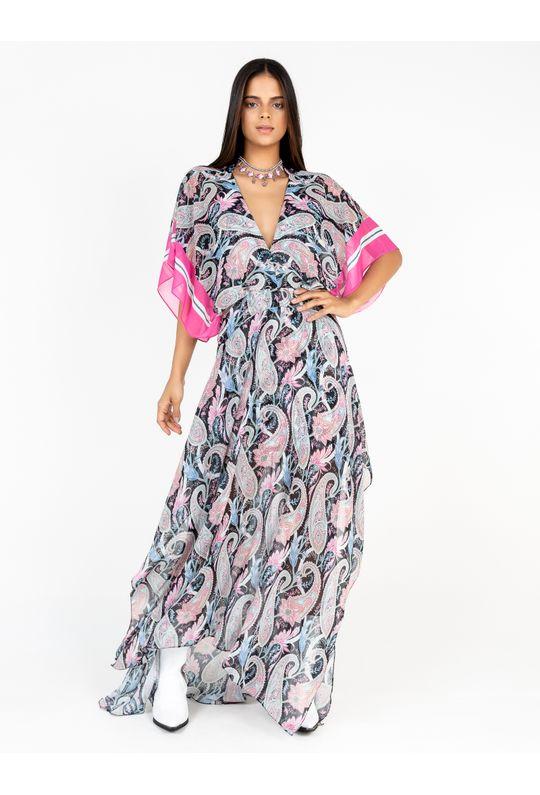 Vestido-Longo-De-Chiffon-Estampa-Cashmere