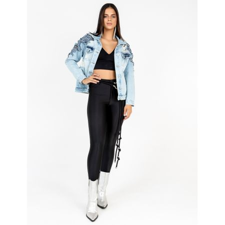 Jaqueta Jeans Bordado A Laser