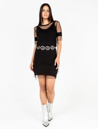 Vestido-Midi-De-Trico-Com-Tule