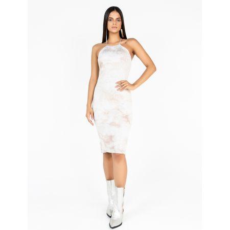Vestido Curto De Tule Estampa Tie Dye Cloud Com Tr